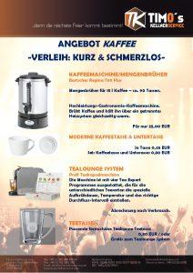 Flyer: Kaffee & Tee